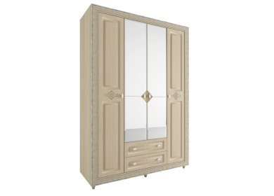 Шкаф четырехдверный Калипсо Туя