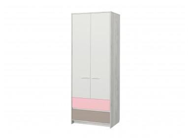 Шкаф двухдверный Зефир розовый