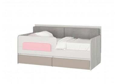 Кровать-тахта Зефир розовый малая