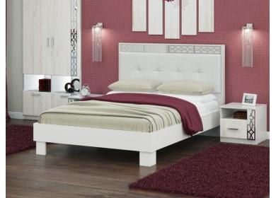 Кровать с мягкой спинкой Белла