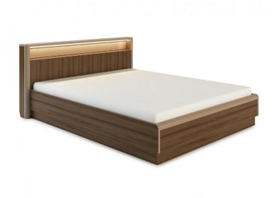 Кровать с подсветкой Оливия с подъемным механизмом Дезира темный