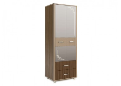 Шкаф двухдверный Оливия Дезира темный