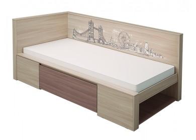 Кровать угловая Город 0,8
