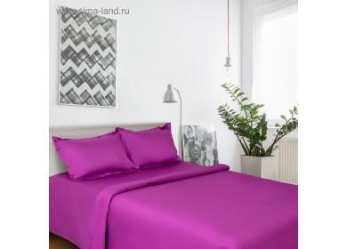 Постельное бельё Этель дуэт Пурпурное сияние 143х215 см - 2 шт., 220х240 см, наволочки 50х70 + 3 см - 2 шт., сатин 128 г/м²